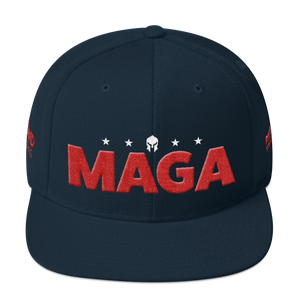 Ultimate MAGA Hat With Red 3D Puff Embroidery in Camouflage | Dark Colors
