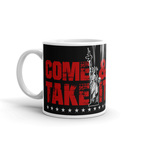 2nd Amendment Coffee Mug | Lady Liberty AR-15 Come & Take It Mug | Dark Color