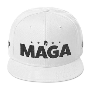 Ultimate MAGA Hat 3D Puff Embroidered In Light Colors | Black Embroidery
