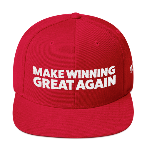 Make Winning Great Again Hat | White Embroidery On Various Colors