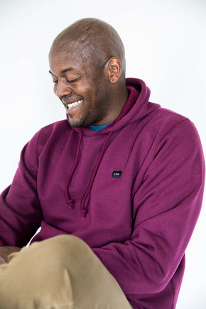 Unisex Maroon Cotton Patch Hoodie