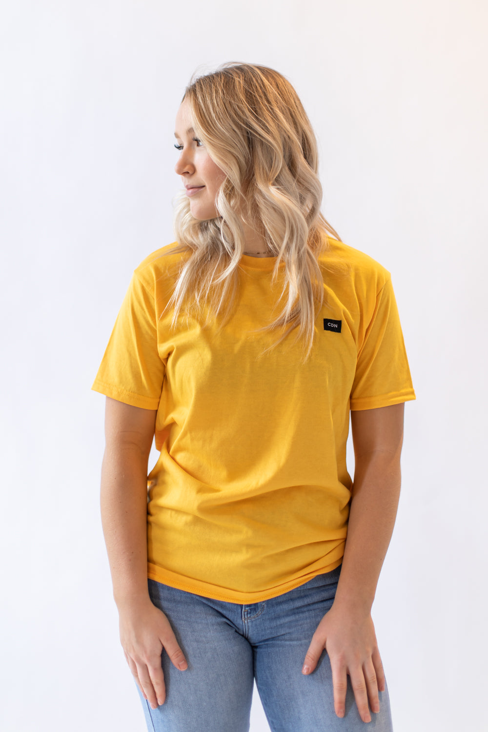 Unisex Gold Cotton Patch Tee