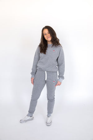 Unisex Marble Grey Crown Jogger