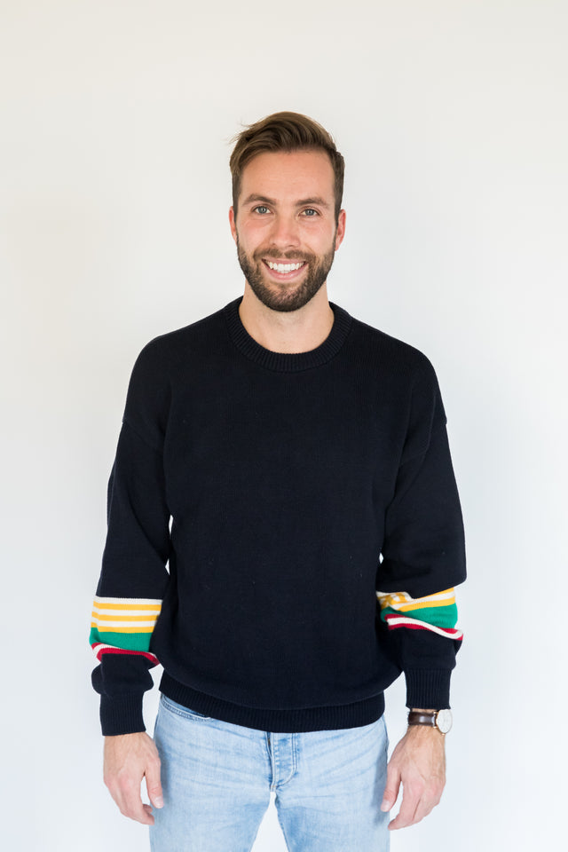 Canadian-Made Navy Knit Sweater