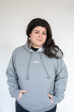 Unisex Athletic Grey Cotton Stitch Hoodie