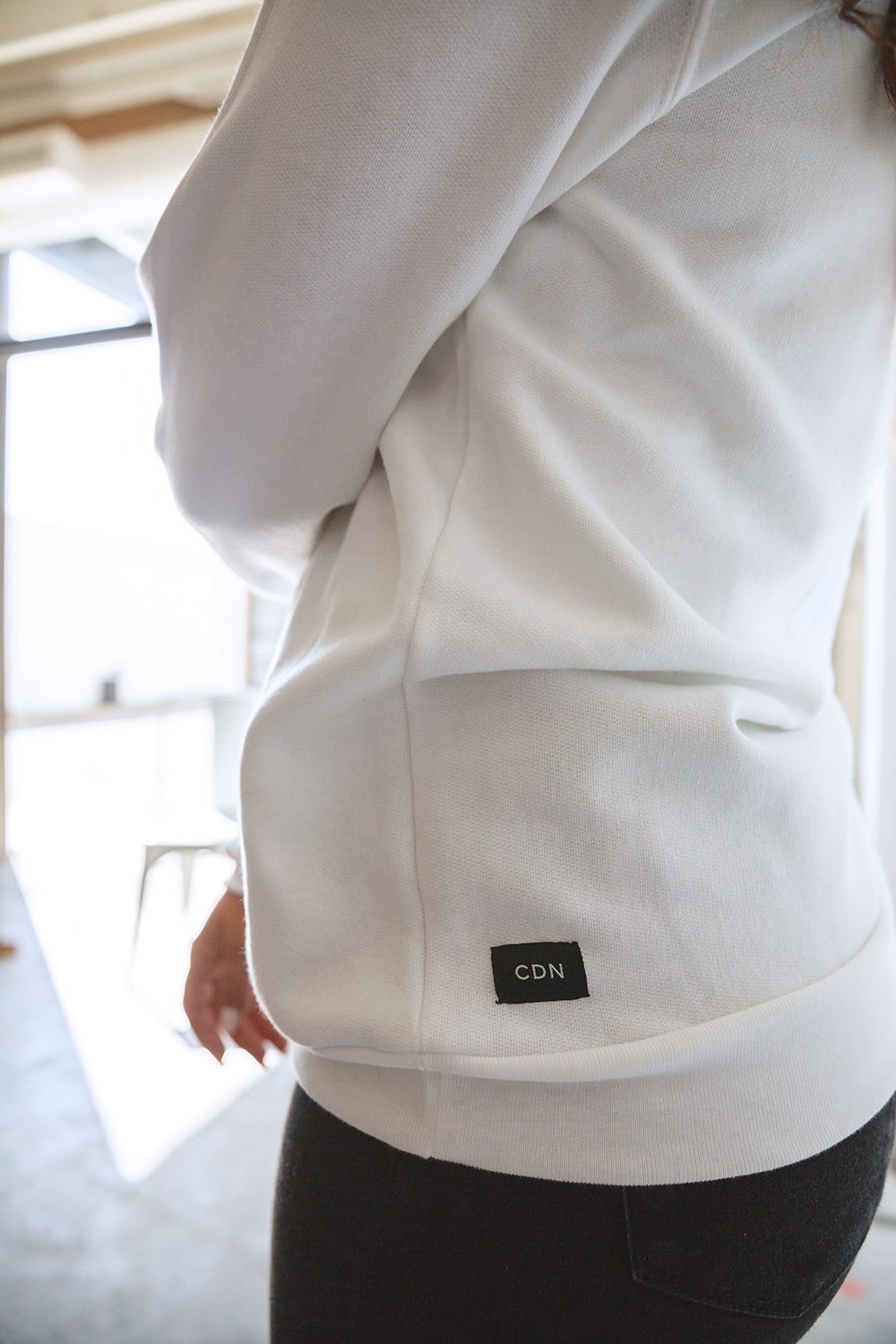 Unisex White 'Sorry' Cotton Hoodie
