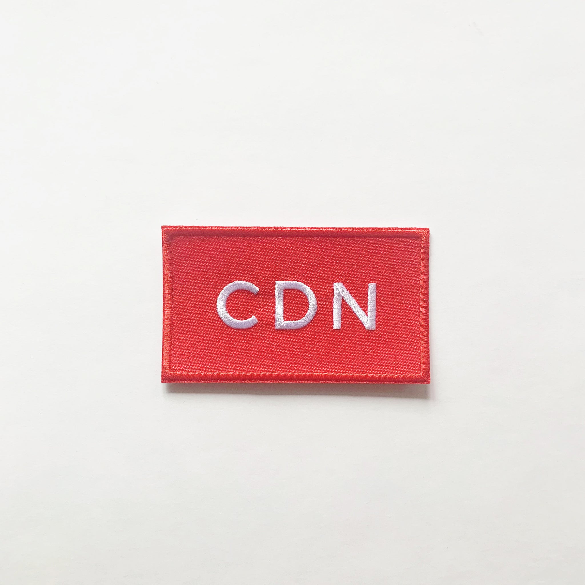 Red CDN Embroidered Patch