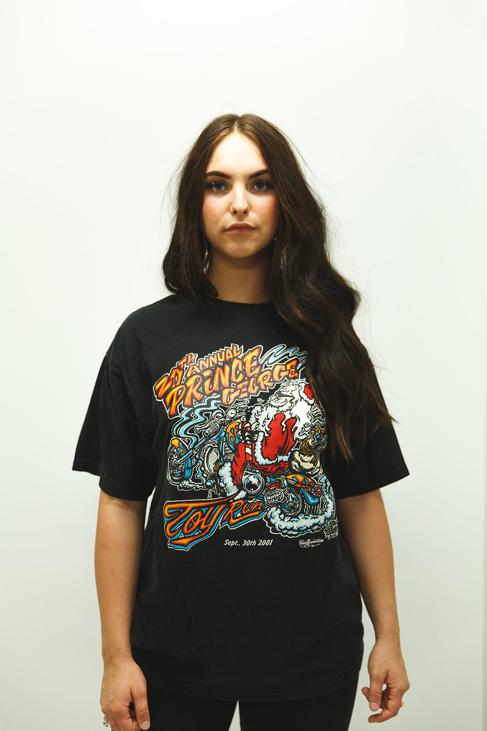 """Prince George Toy Run"" Black Tee"