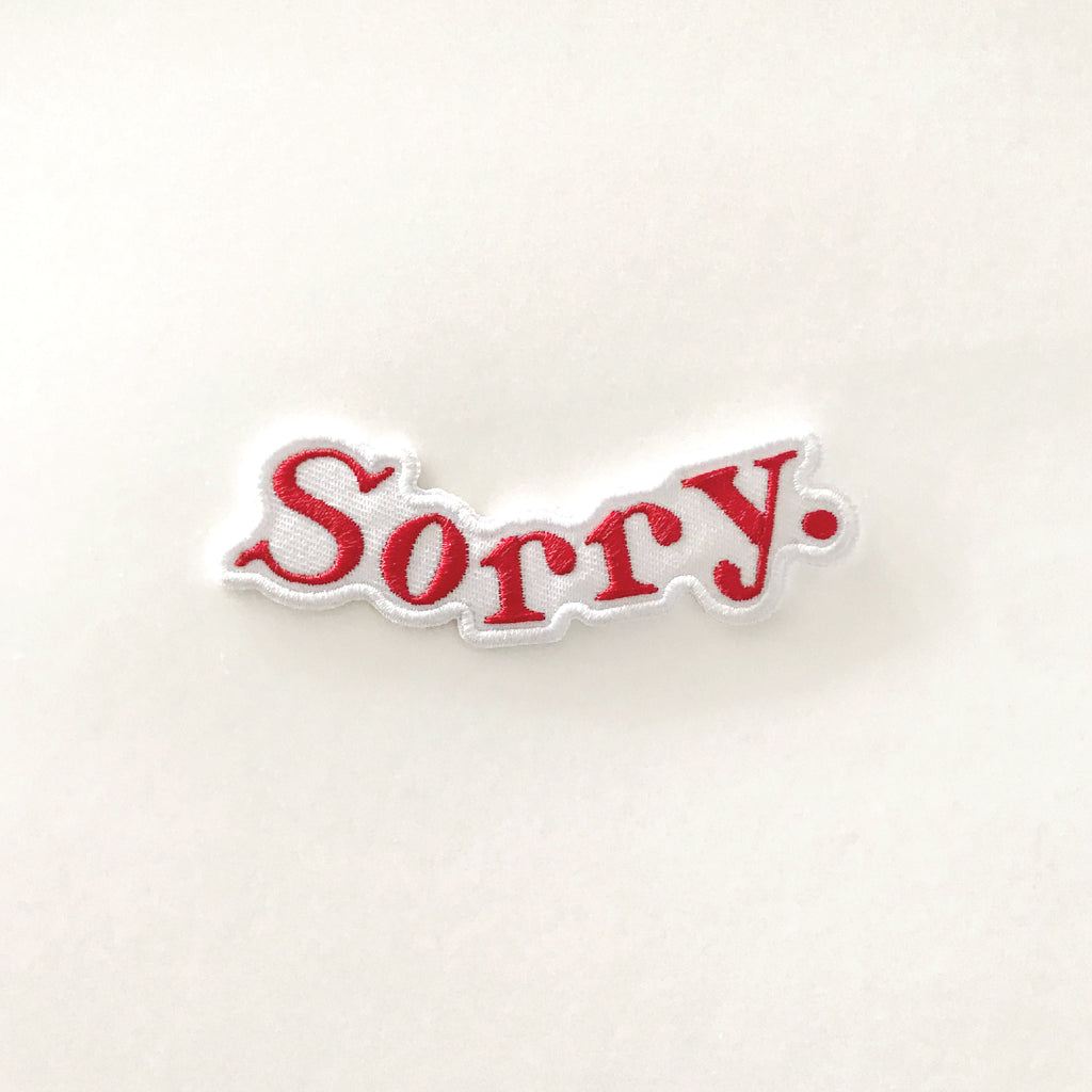 Sorry Embroidered Patch