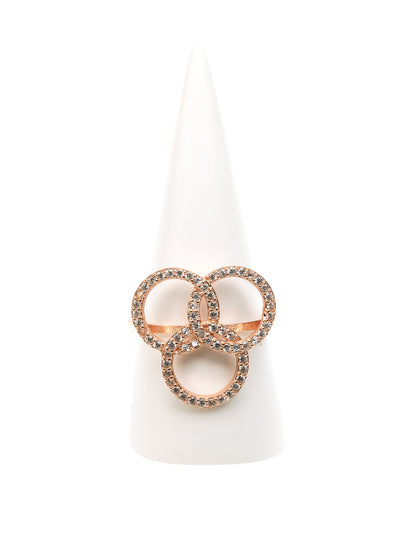 Geraldine Bremer Weill - MANALI DESIGN - BAGUES - NON AJUSTABLES - CERCLES ENCHEVETRES - STRASS SWAROVSKI - PLAQUEE OR ROSE - PRIELLE