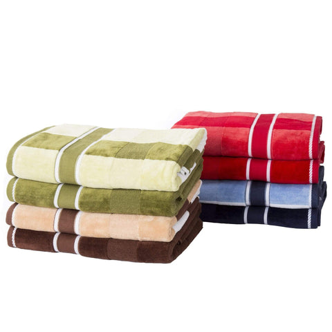 100% Cotton Velour 6PC Bath Towel Set - Bed & Bath