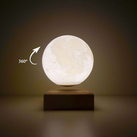 A levitating moon lamp