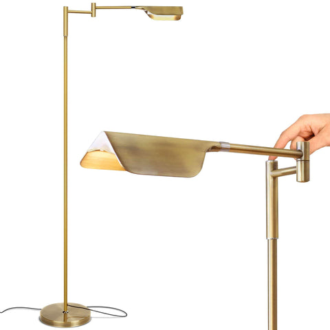 Precise Touch Antique Brass Floor Lamp - Lamps & Lighting