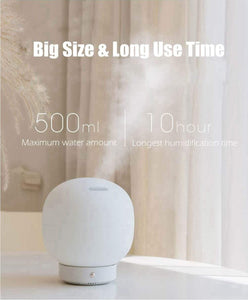Big night light air purifier on table