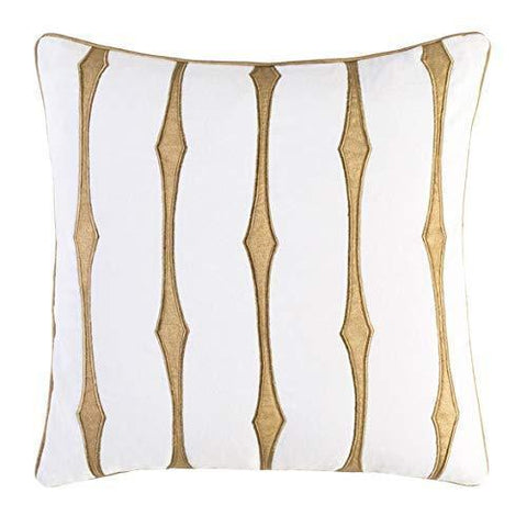 Caramel Brown White Poly Throw Pillow - Bed & Bath