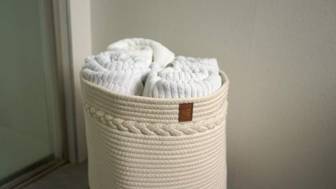 beige storage basket