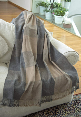 Ember Alpaca Wool Plaid Throw Blanket - Bed & Bath