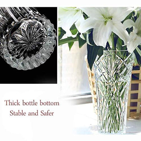 Traditional Crystal Glass Flower Vase - Home & Garden