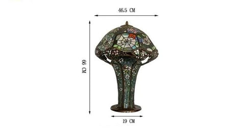 Mushroom Orchid Spider Web Table Lamp - Lamps & Lighting