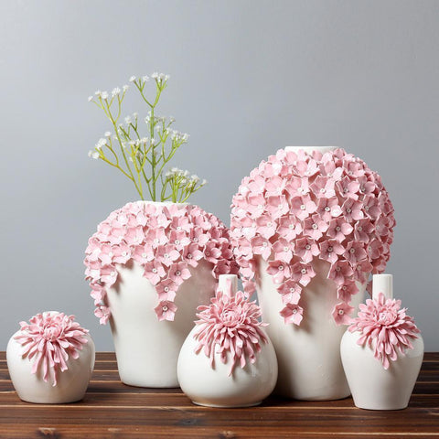 Pink Blossom Tabletop Flower Vase - Home & Garden