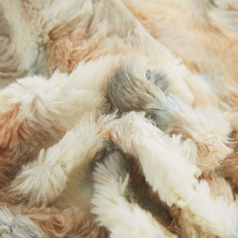 Russian Lynx Faux Fur Sherpa Throw Blanket - Bed & Bath