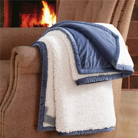 Imported Ultra Plush Sheepskin Faux Fur Throw Blanket - Bed & Bath