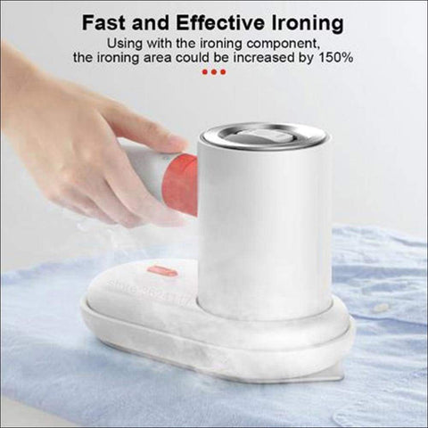 portable white steam iron