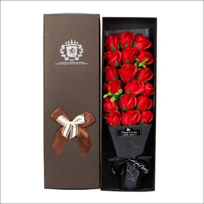 18 Rose Soap Bouquet Gift Box