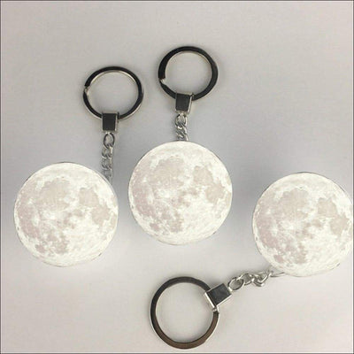 3D Moon Light Keychain
