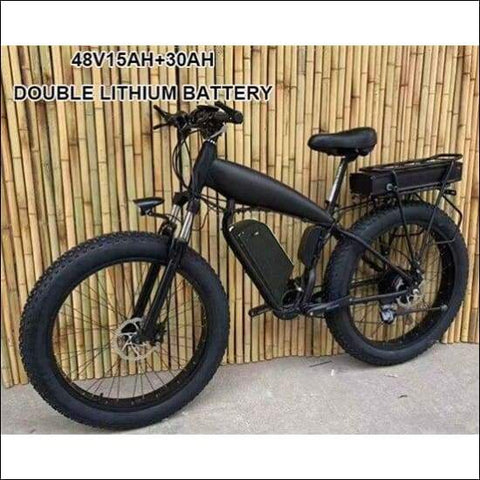48V Fat Tire Hydraulic Electric Mountain Bike - Travel Electronics