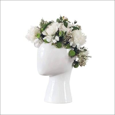 Abstract Head Porcelain Tabletop Flower Vase