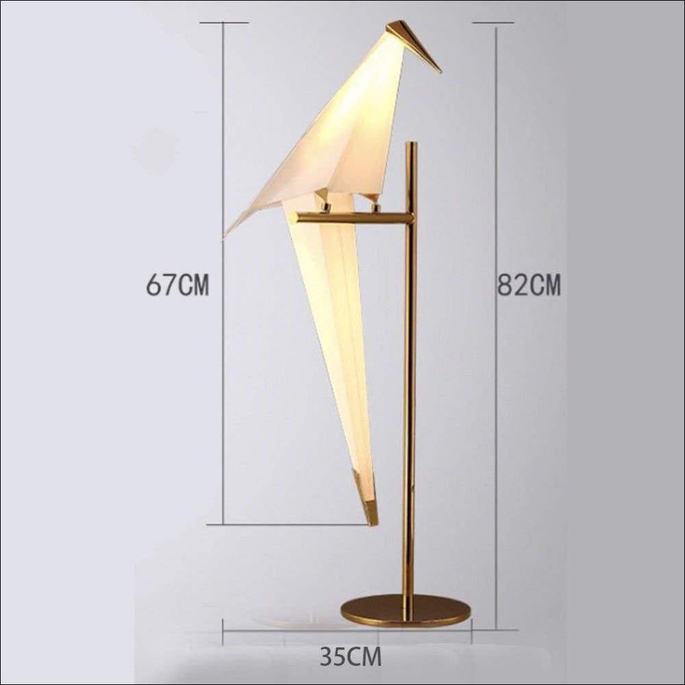 Acrylic Iron Crane Bird Table Lamp - Lamps & Lighting
