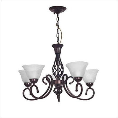 Alabaster Bronze Cradle Chandelier Ceiling Lamp