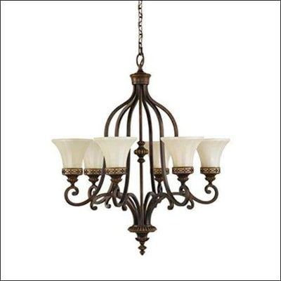 Amber Snow Scavo Glass Chandelier Ceiling Lamp