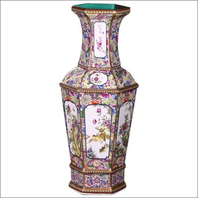 Ancient Classical Floral Floor Flower Vase