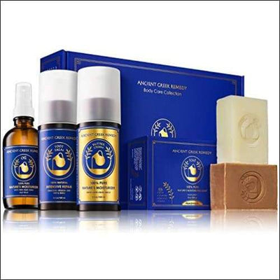 Ancient Greek Remedy Organic Spa Skin Care Gift Set Perfect for Moms Pregnancy Daily Bath and Shower Face Body Post Cancer Chemo