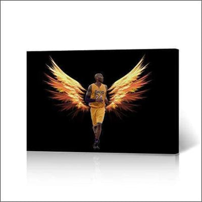 Angel Winged Kobe Bryant Framed Canvas Painting