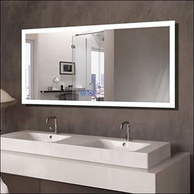 Anti-fog Bluetooth Touch LED Wall Mirror - Mounted