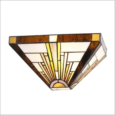 Antique Flush Stained Glass Wall Lamp