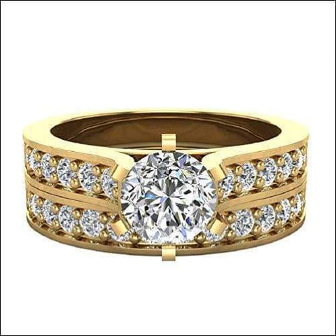 authentic bridal 14K cathedral diamond gold ring