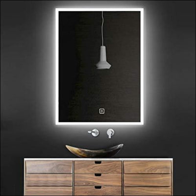 Backlit Anti-fog Bluetooth Touch LED Wall Mirror - Lighted Mounted