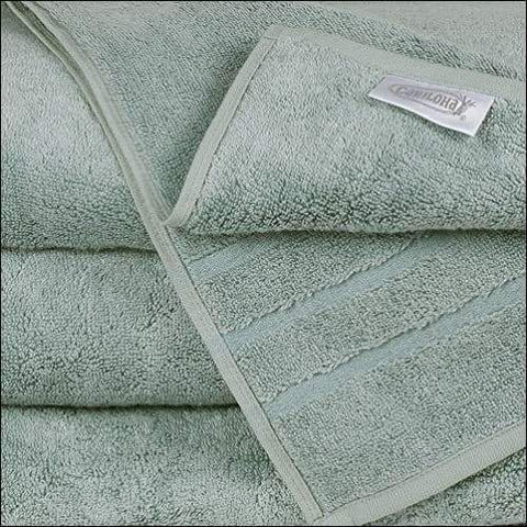 Bamboo & Turkish Cotton Ocean Mist Bath Towel - Bed & Bath