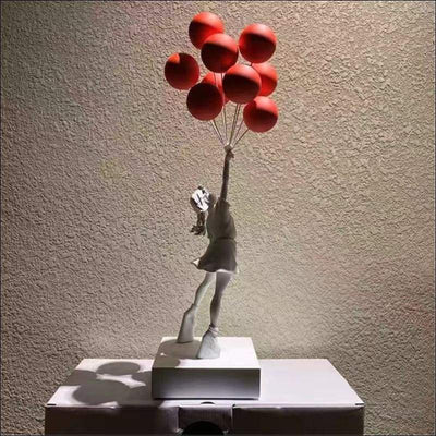 Banksy Flying Balloon Girl Sculpture