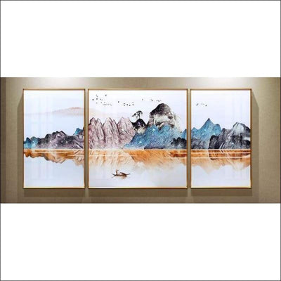''Beauty Mountain'' Metal Framed Canvas Painting