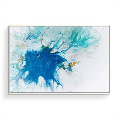 Blue Swirl Abstract Framed Canvas Wall Art