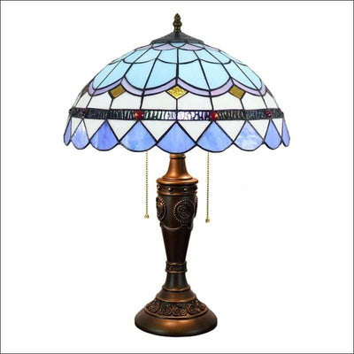 Bohemian Mosaic Stained Glass Table Lamp