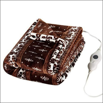 Bohemian Paisley Electric Heated Throw Blanket