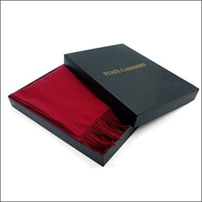 Burgundy Mongolian Cashmere Throw Blanket - 60 x 50 Inches