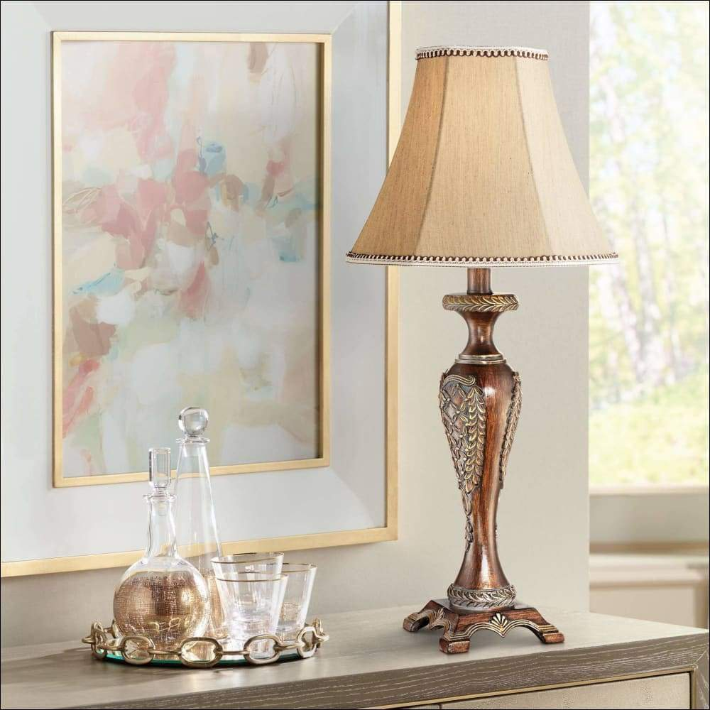 Candlestick Floral Bell Table Lamp - Lamps & Lighting