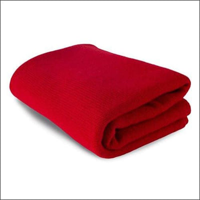 Cardinal Red Scottish Cashmere Throw Blanket - 35 x 65